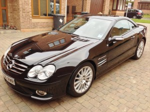 Valeting and detailing for Mercedes SL55 AMG